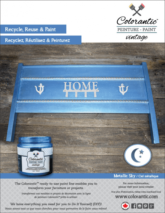 Metallic Blue Paint - Metallic Sky | Chalk-Based Paint Colorantic