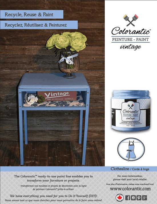 PUB Peinture à la craie Corde à linge - Chalk-Based Paint Clothesline | Peinture à la craie Colorantic | Chalk-Based Paint Colorantic
