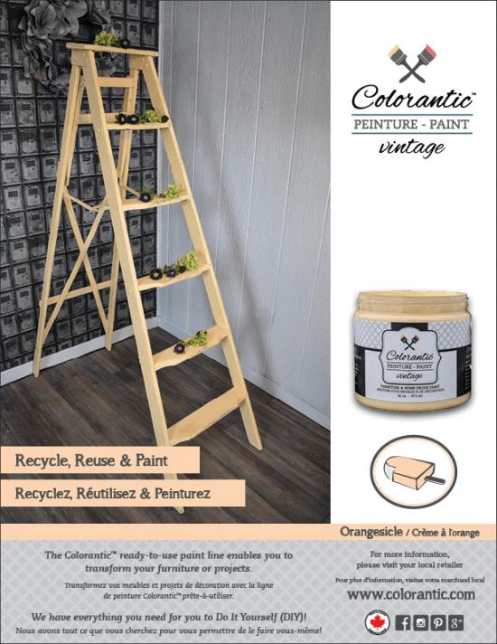 PUB Peinture à la craie Crème à l'orange - Chalk-Based Paint Orangesicle   Peinture à la craie Colorantic   Chalk-Based Paint Colorantic