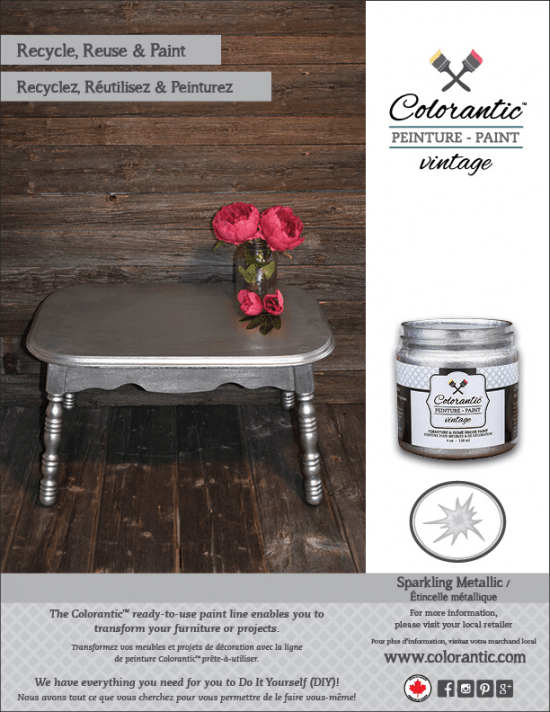 Metallic Chalk Based paint - Sparkling Metallic, Metallic paint | Chalk-Based Paint Colorantic
