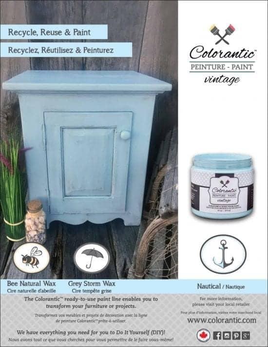 Peinture à la craie couleur nautique - Chalk-Based Paint nautical colour | Peinture à la craie Colorantic | Chalk-Based Paint Colorantic