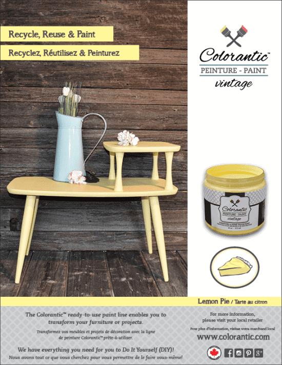 PUB Peinture à la craie Tarte au citron - Chalk-Based Paint Lemon pie   Peinture à la craie Colorantic   Chalk-Based Paint Colorantic