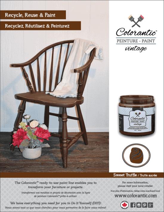 PUB Peinture à la craie Truffle sucrée - Chalk-Based Paint Sweet Truffle | Peinture à la craie Colorantic | Chalk-Based Paint Colorantic