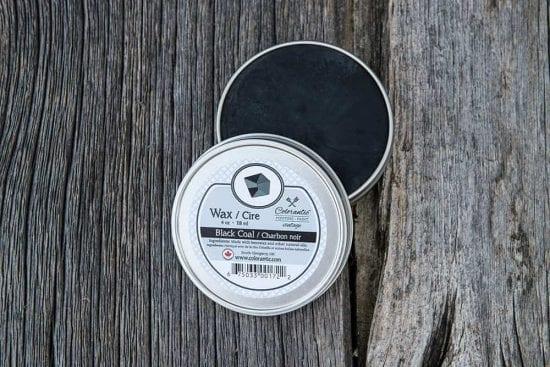 Cire Colorantic Charbon noir - Colorantic Wax Black Coal 4oz | Peinture à la craie Colorantic | Chalk-Based Paint Colorantic