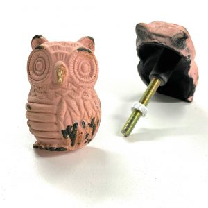 Pink Owl Knob for drawers and cabinets