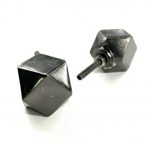 Black metal button knob for drawers and Cabinets