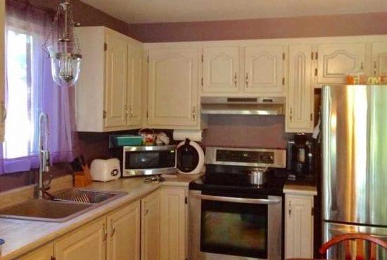 Peinture à la craie armoire cuisine - Painting kitchen cabinet | Peinture à la craie Colorantic | Chalk-Based Paint Colorantic