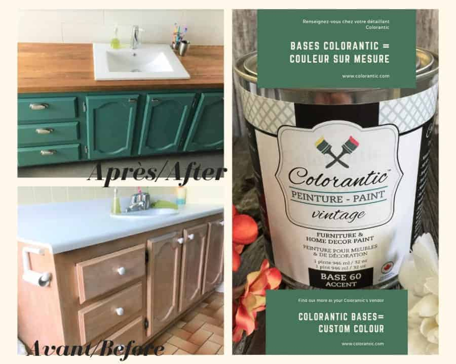 How to Paint a Bathroom Vanity with Chalk Based Paint!