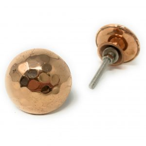 Copper pink metal round knob for drawers and cabinets