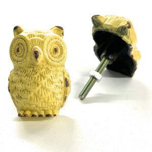 Green Yellow Owl Knob for drawers and cabinets