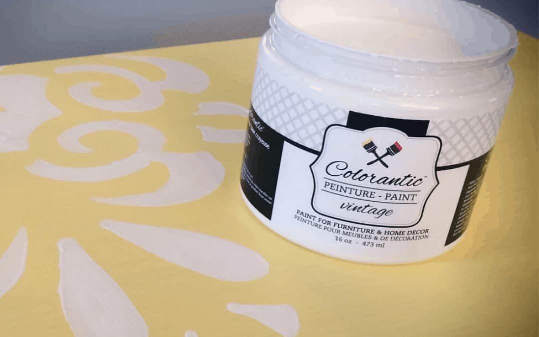 Painting a dresser Lemon Pie