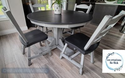 Rejuvenate a dining room set with Colorantic products