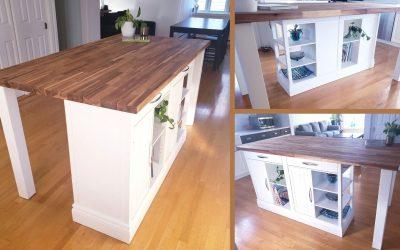 Création d'un îlot de cuisine personnalisé!