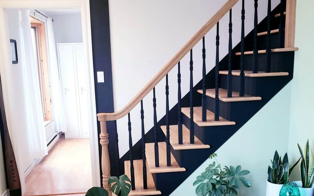 How to upgrade your staircase with chalk based paint