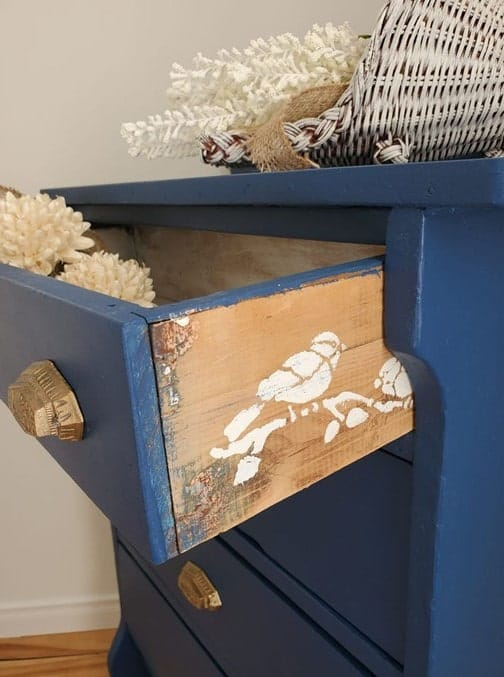 cabinet with stencil