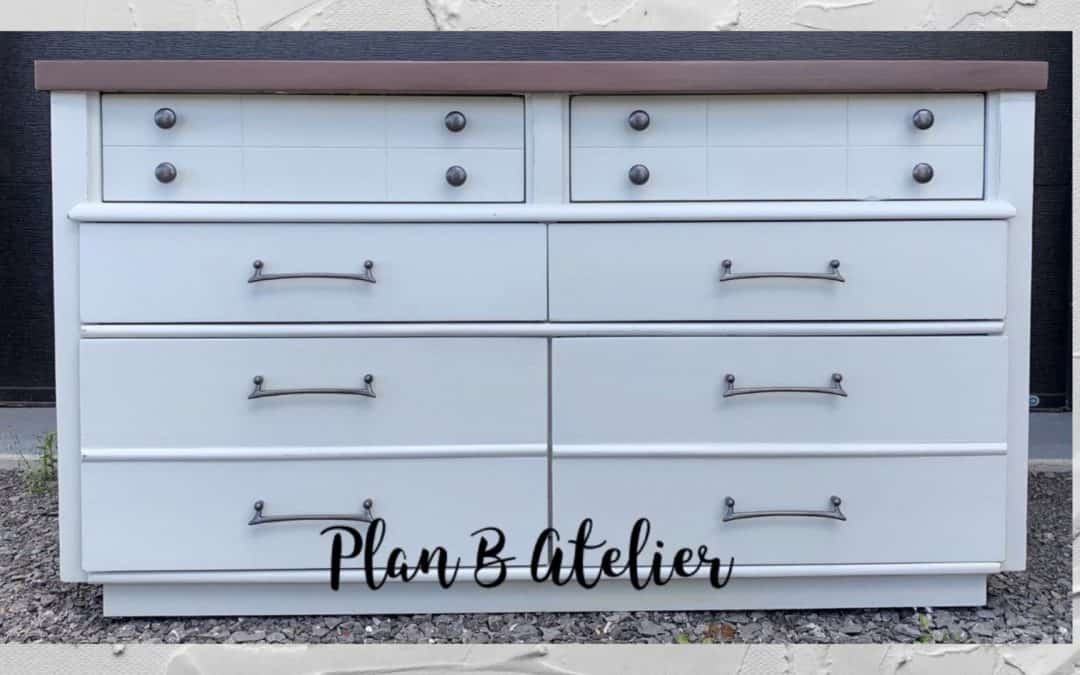 Dresser restoration with chalk based paint