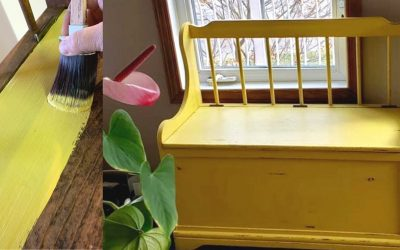Makeover of an entrance bench with chalk based paint