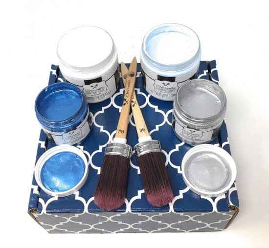 blue and silver winter bundle of paint