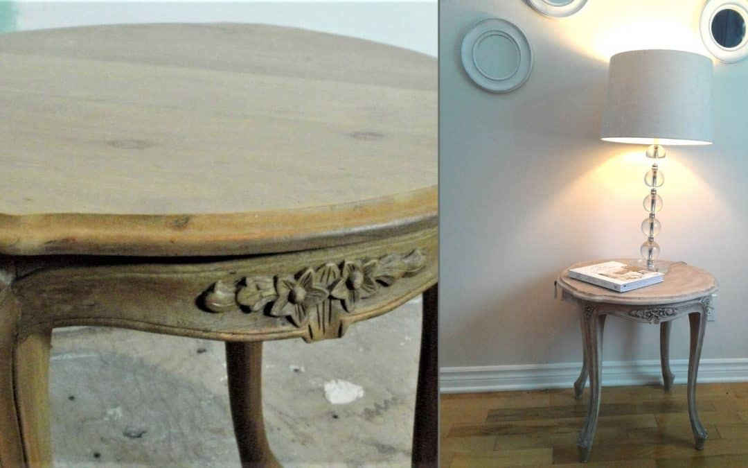 Transformer une table d'appoint style vieillot shabby chic