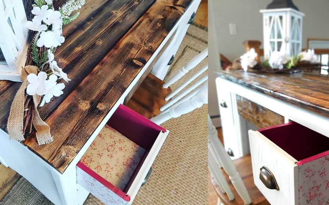 Transformation of a work desk in Farmhouse style