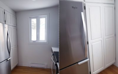 Transformation of a pantry with chalk based paint