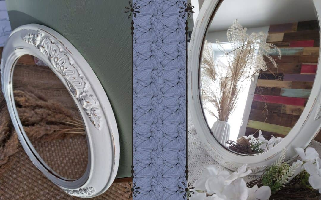 Rejuvenate an ancient mirror with chalk-based paint