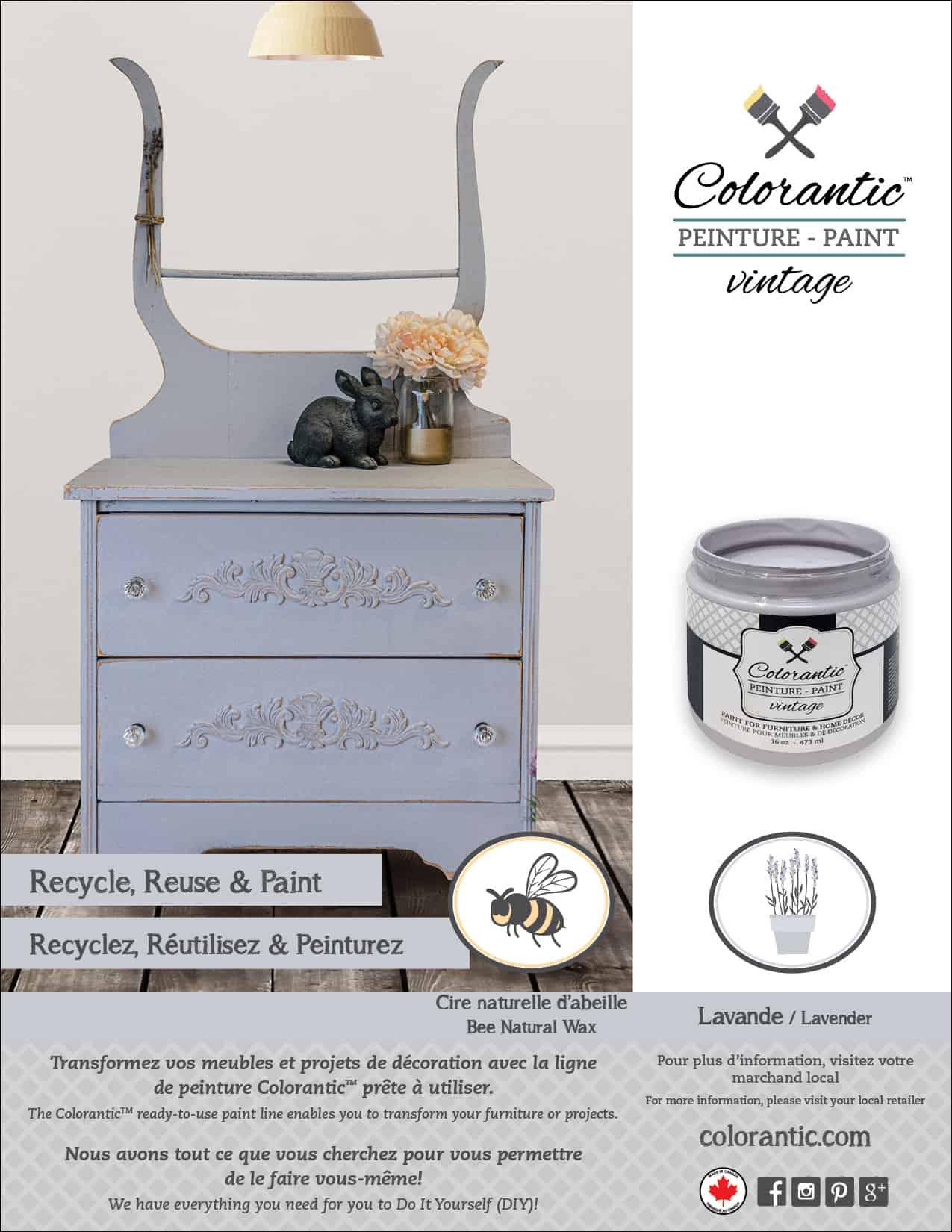 PUB Peinture à la craie Cappuccino - Chalk-Based Paint Cappuccino   Peinture à la craie Colorantic   Chalk-Based Paint Colorantic