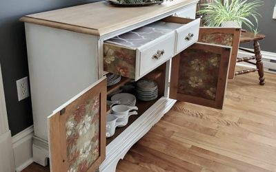 Giving the Dining Room a New Look by Upcycling a Buffet