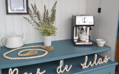 How to make Your Dream Coffee Bar from a TV Stand