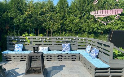 How to create a garden bench using recycled wood pallets
